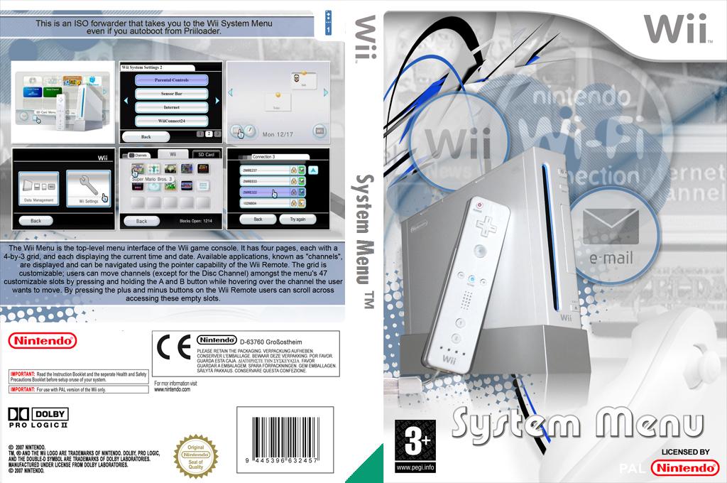 Wii System Menu Wii coverfullHQ (DJWA)