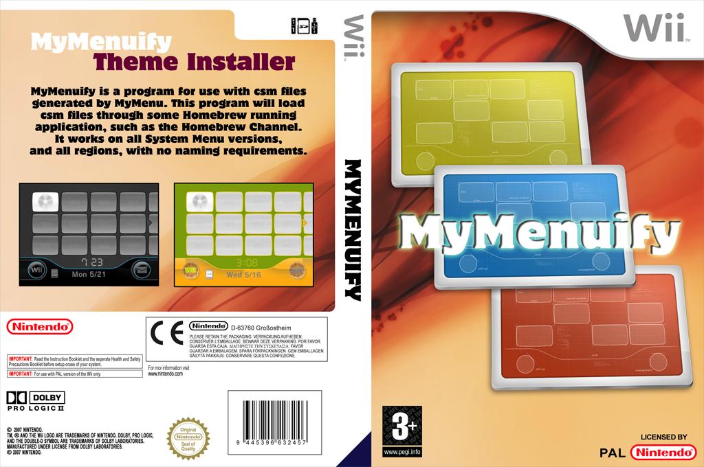 MyMenuify Wii coverfullHQ (DMMA)