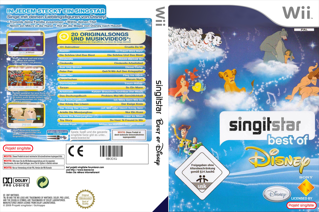 SingItStar: Best of Disney Wii coverfullHQ (DMSP4Q)