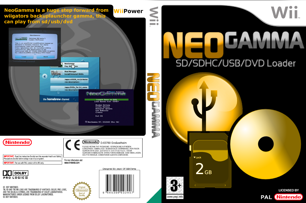 NeoGamma Launcher Wii coverfullHQ (DNGA)