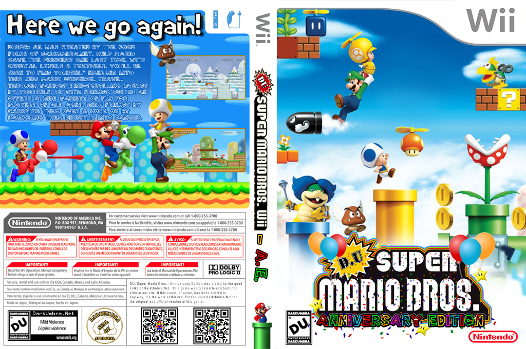 DU Super Mario Bros.:Anniversary Edition Wii coverfullHQ (DUAP01)