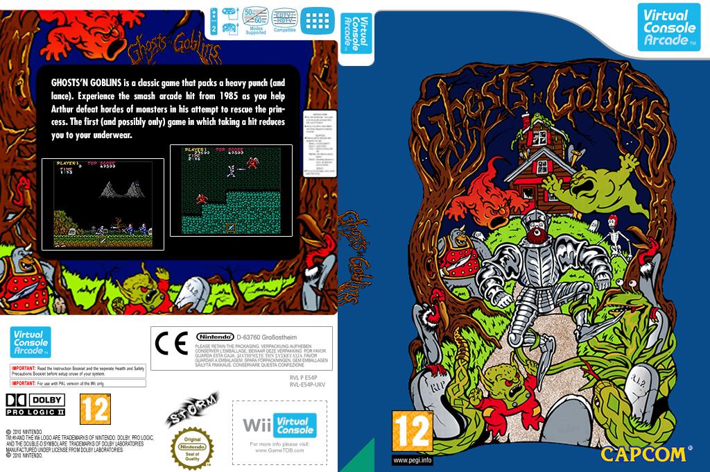 Ghost'n Goblins Wii coverfullHQ (E54P)