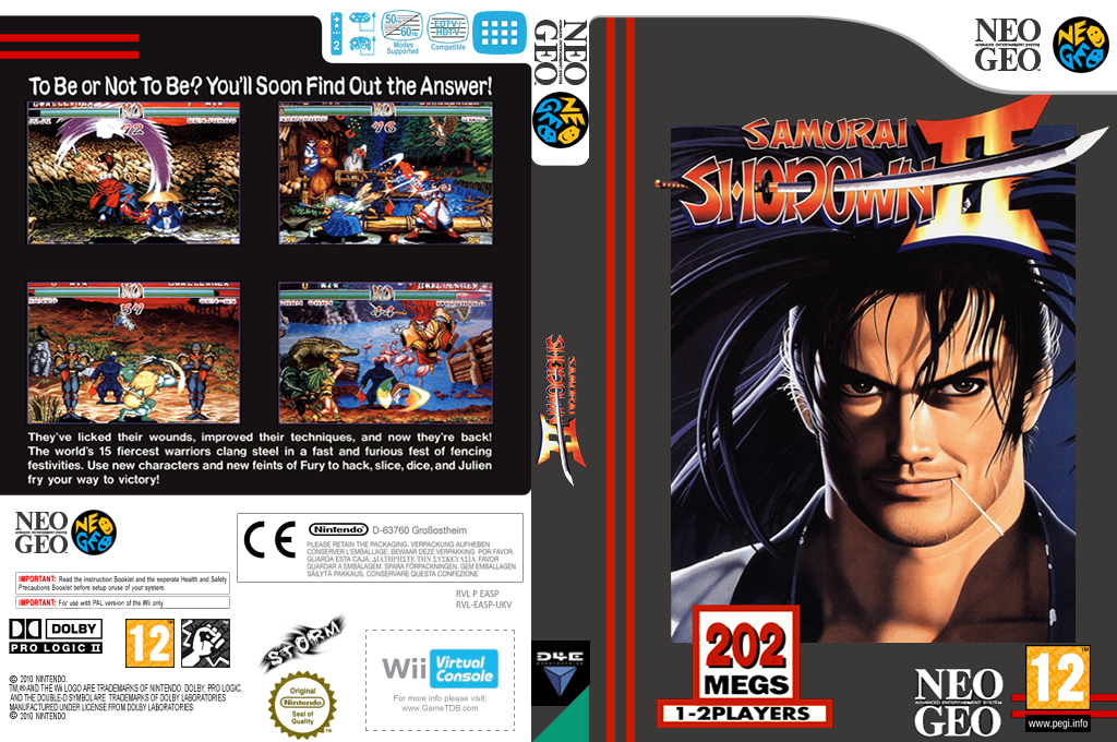 Samurai Shodown II Wii coverfullHQ (EASP)