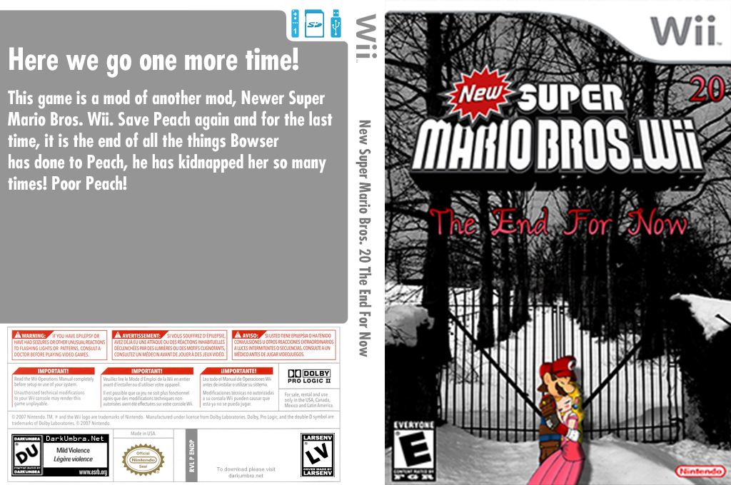 New SUPER MARIO BROS. Wii 20 The End For Now Wii coverfullHQ (ENDP01)