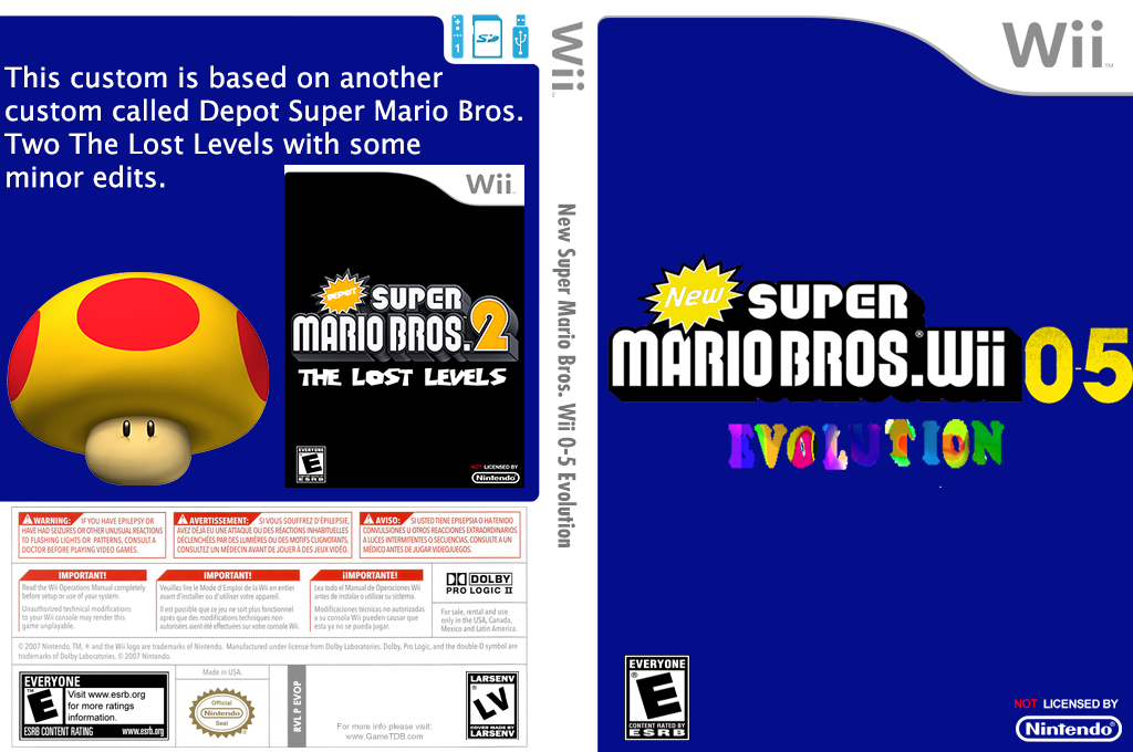 New Super Mario Bros. Wii 0-5 Evolution Wii coverfullHQ (EVOP01)