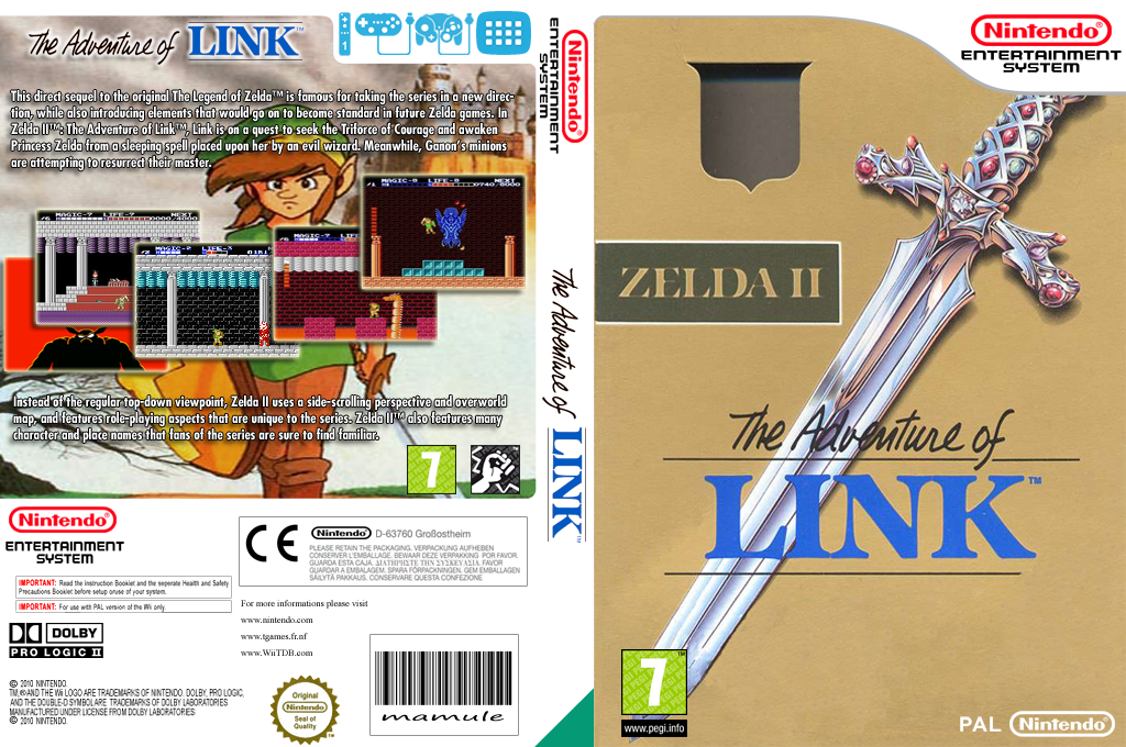 Zelda II: The Adventure of Link Wii coverfullHQ (FA9P)