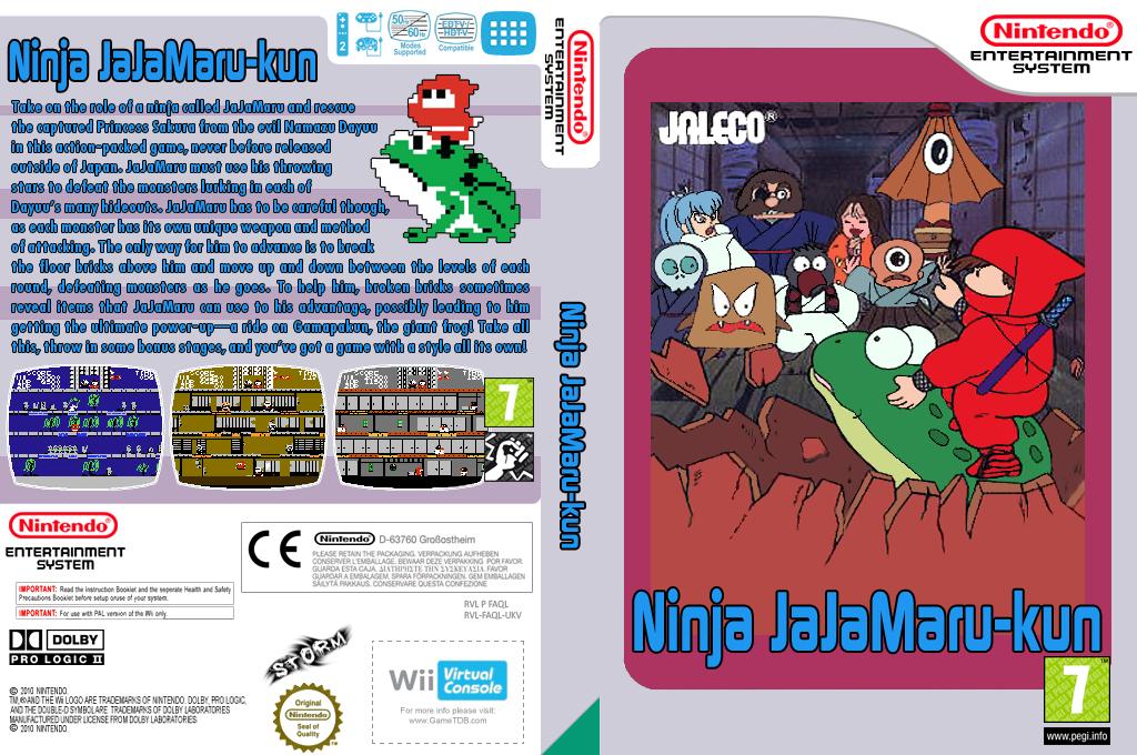 Ninja JaJaMaru-kun Wii coverfullHQ (FAQL)
