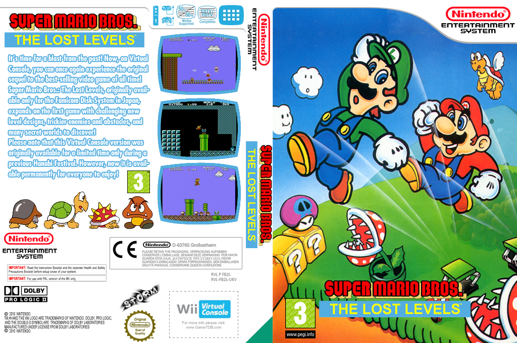 Super Mario Bros.: The Lost Levels Wii coverfullHQ (FB2L)