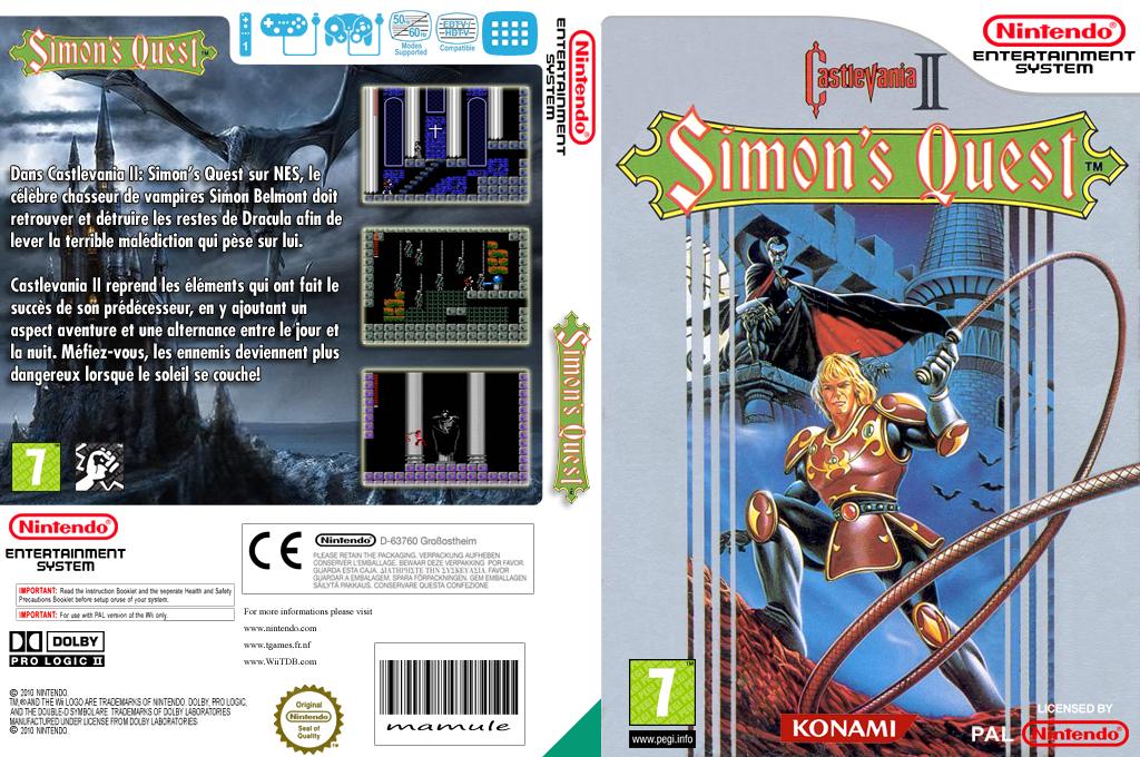 Castlevania II: Simon's Quest Array coverfullHQ (FC8P)