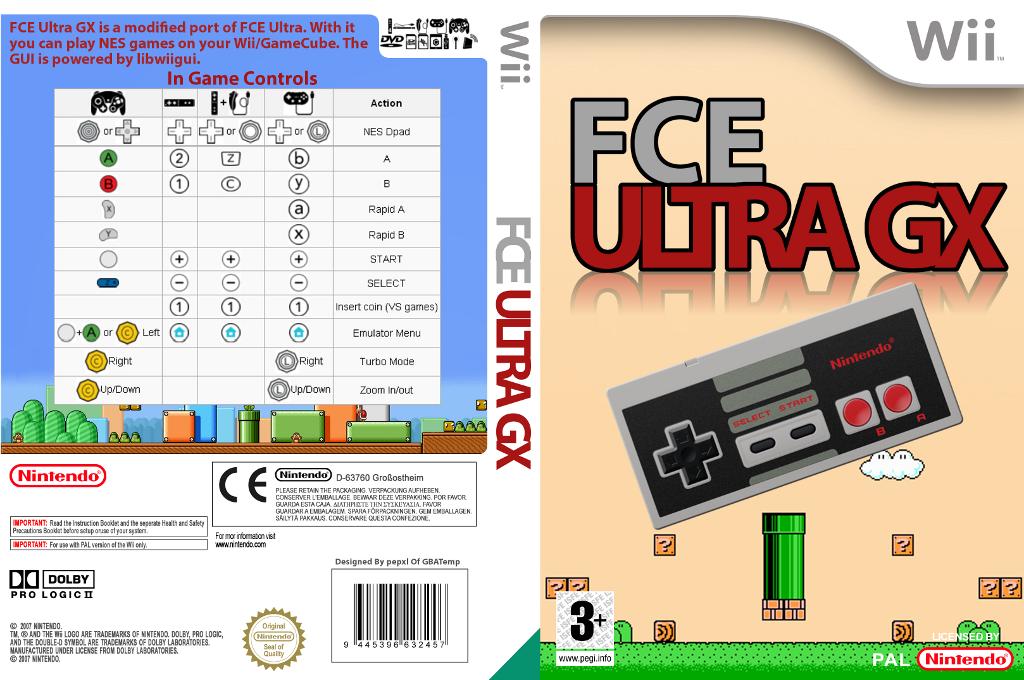 FCE Ultra GX Wii coverfullHQ (FCEU)