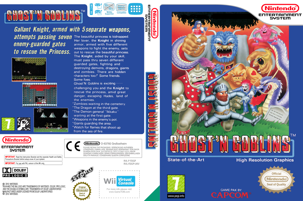 Ghosts'n Goblins Wii coverfullHQ (FDGP)