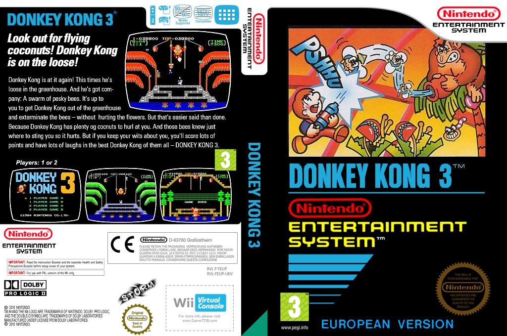 Donkey Kong 3 Wii coverfullHQ (FEUP)