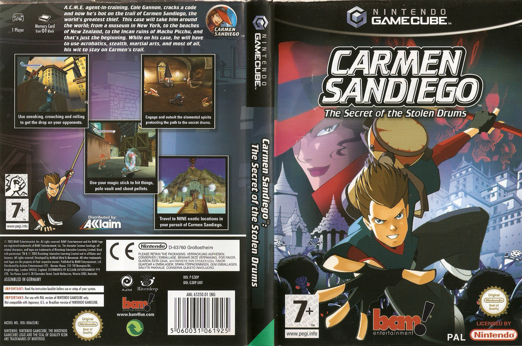 Carmen Sandiego: The Secret of the Stolen Drums Wii coverfullHQ (G3DP6L)
