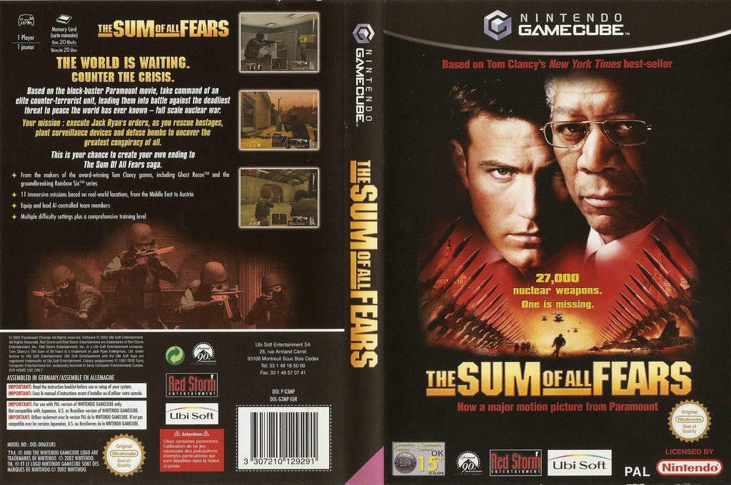The Sum of All Fears Wii coverfullHQ (G3MP41)