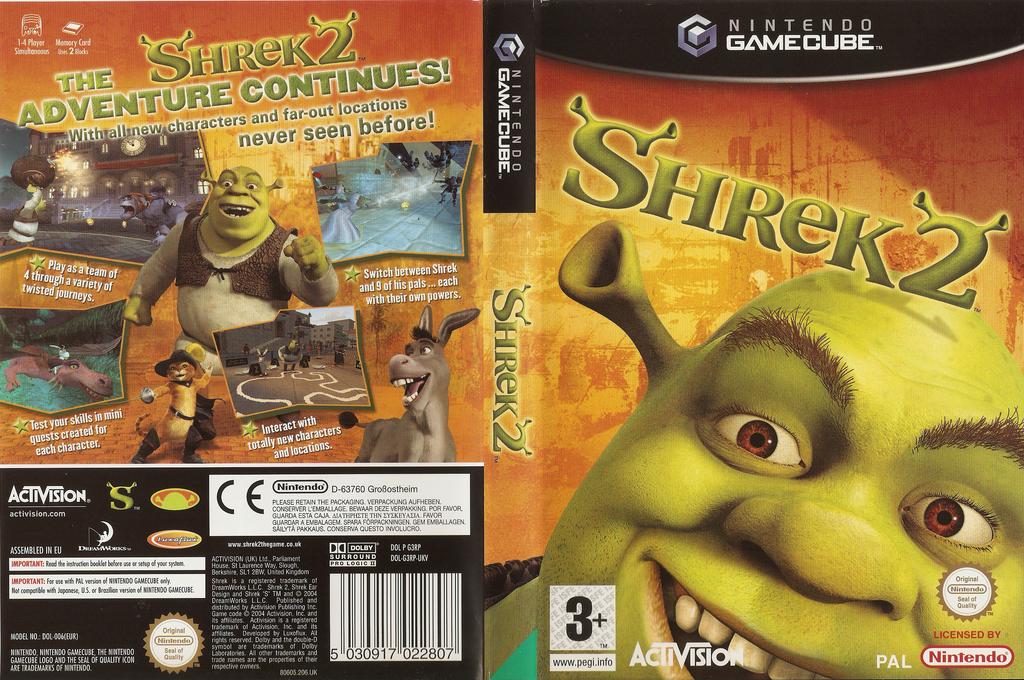 Shrek 2 Wii coverfullHQ (G3RP52)