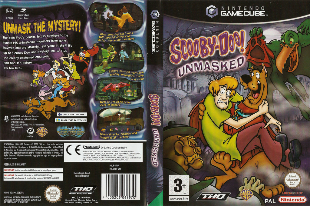Scooby-Doo! - Unmasked Wii coverfullHQ (G5DP78)