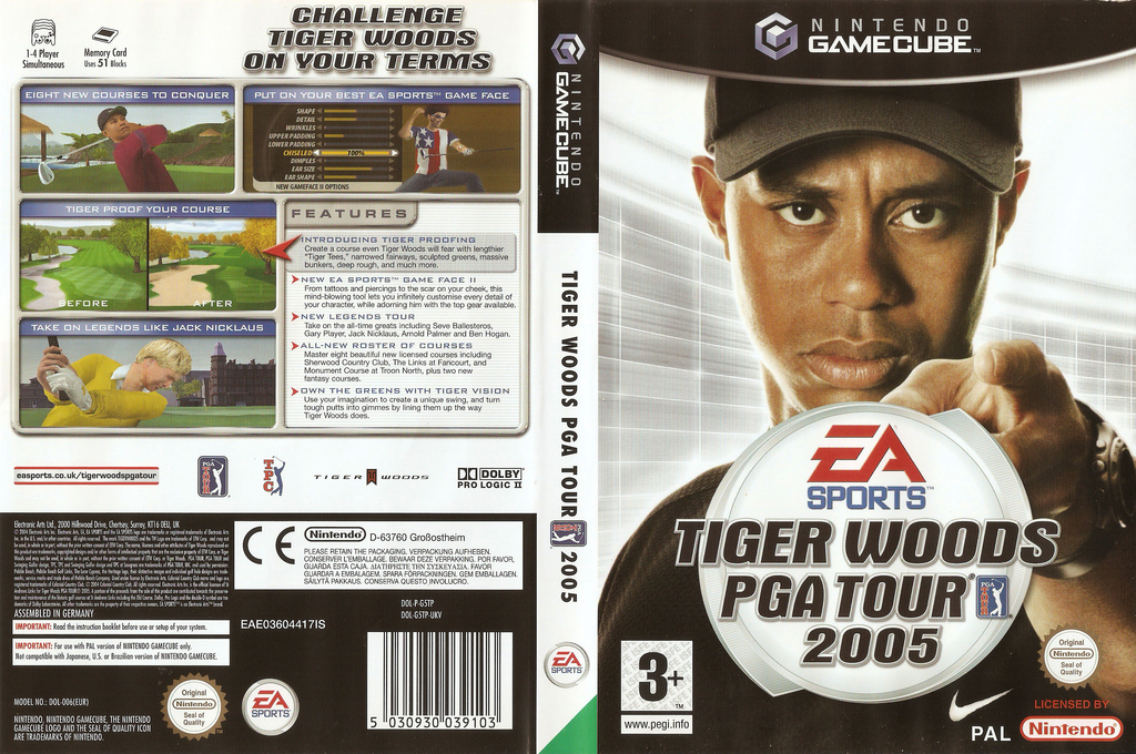 Tiger Woods PGA Tour 2005 Wii coverfullHQ (G5TP69)