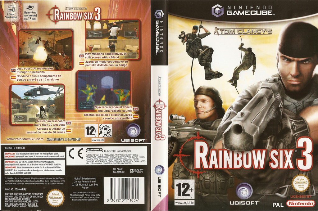 Tom Clancy's Rainbow Six 3 Wii coverfullHQ (G63P41)