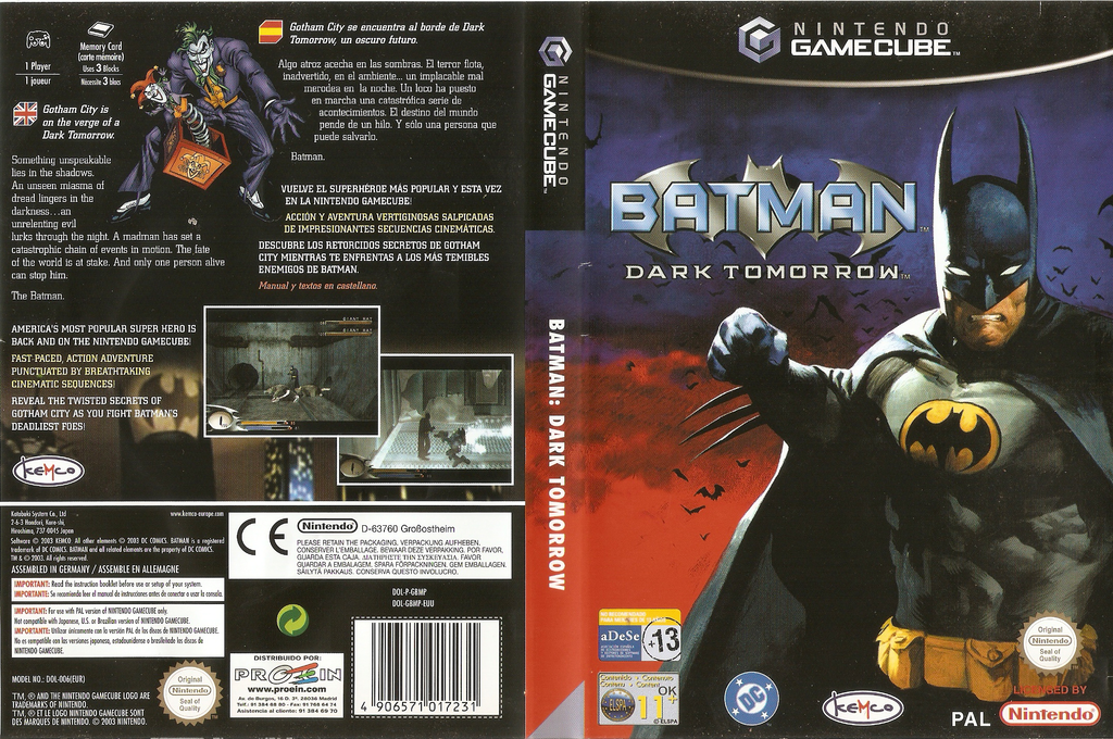 Batman: Dark Tomorrow Wii coverfullHQ (GBMP7F)