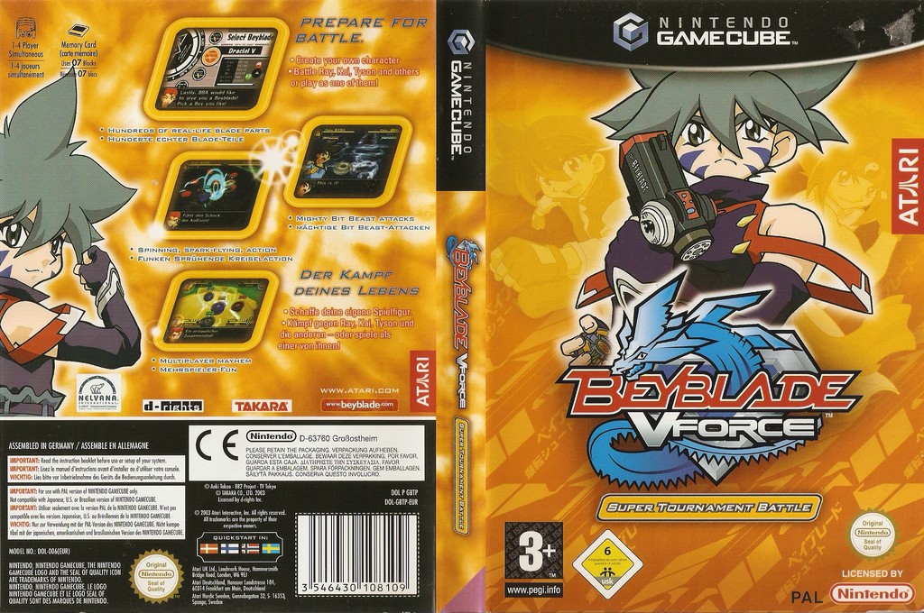 Beyblade VForce - Super Tournament Battle Wii coverfullHQ (GBTP70)