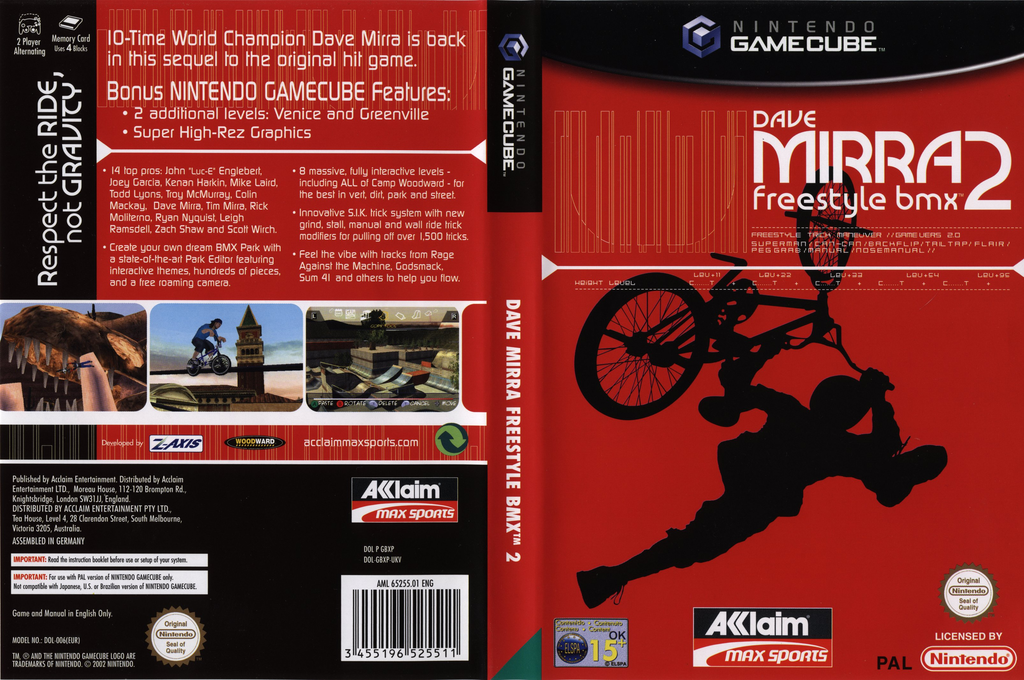 Dave Mirra Freestyle BMX 2 Wii coverfullHQ (GBXP51)