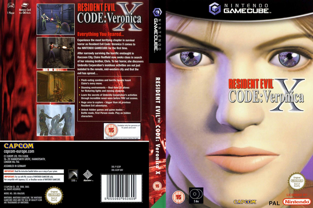 Resident Evil Code: Veronica X Wii coverfullHQ (GCDP08)
