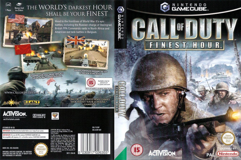 Call of Duty: Finest Hour Wii coverfullHQ (GCOP52)