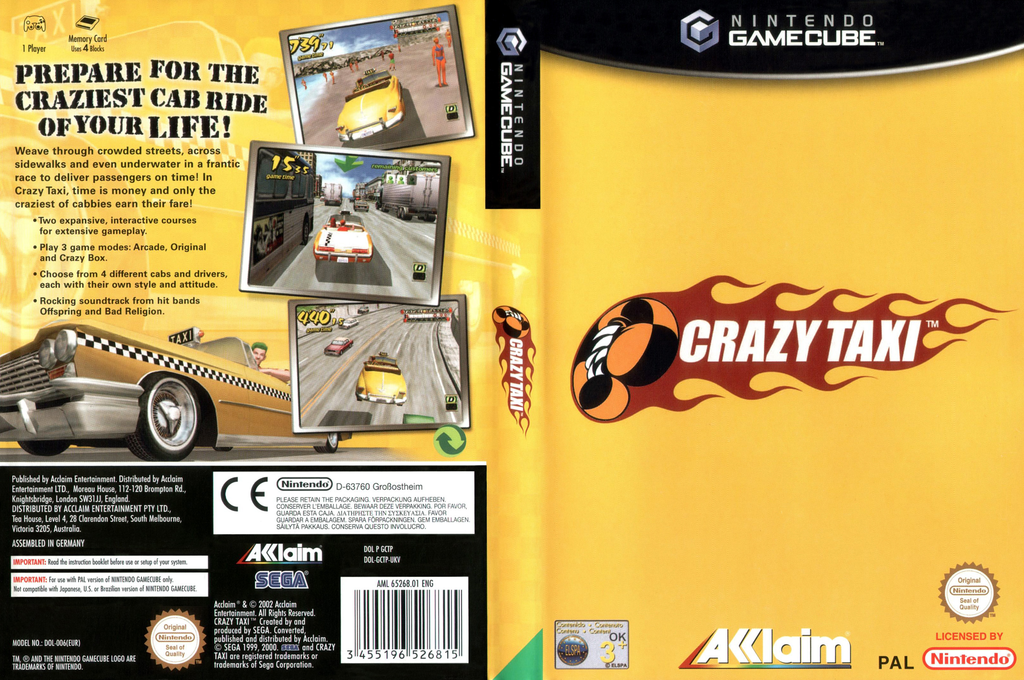 Crazy Taxi Wii coverfullHQ (GCTP51)
