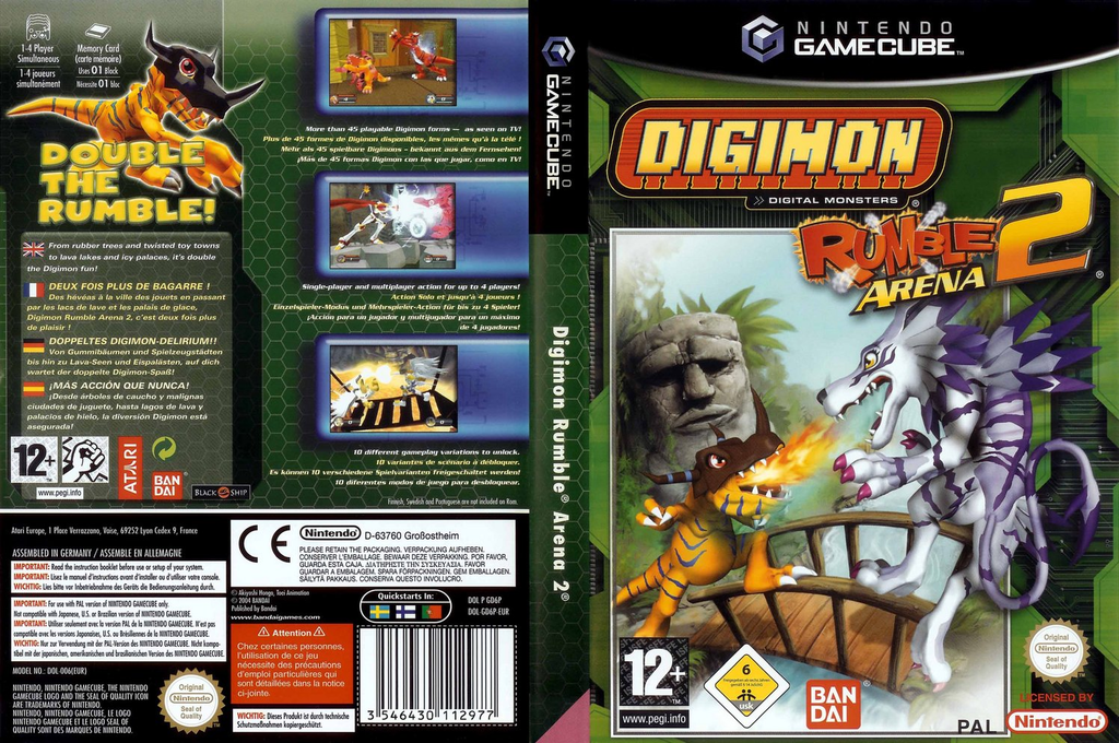 Digimon Rumble Arena 2 Wii coverfullHQ (GD6P70)