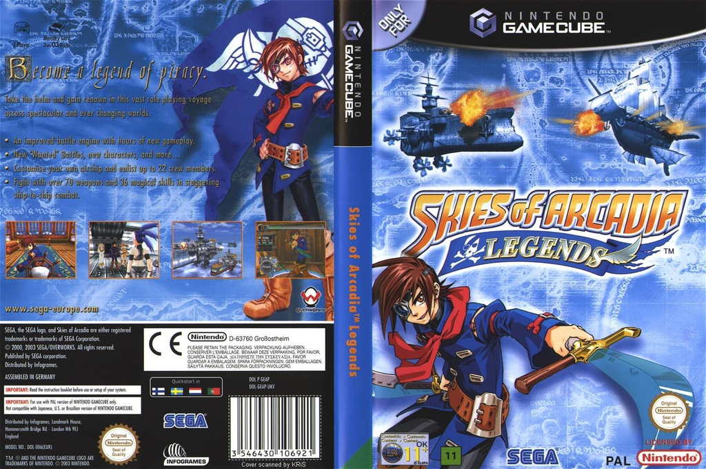 Skies of Arcadia Legends Wii coverfullHQ (GEAP8P)