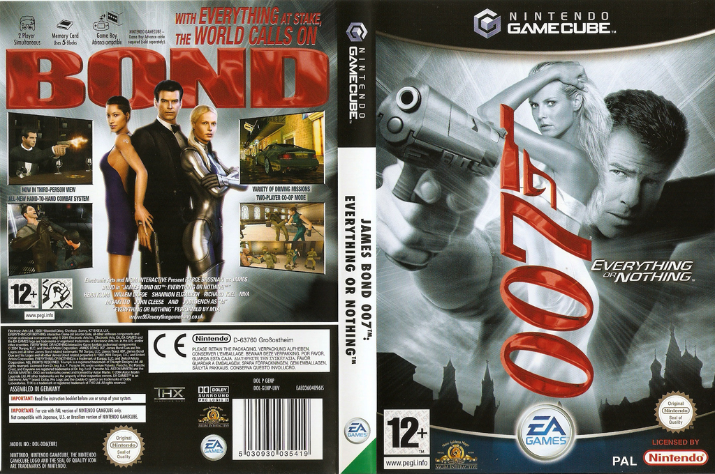 James Bond 007: Everything Or Nothing Wii coverfullHQ (GENP69)