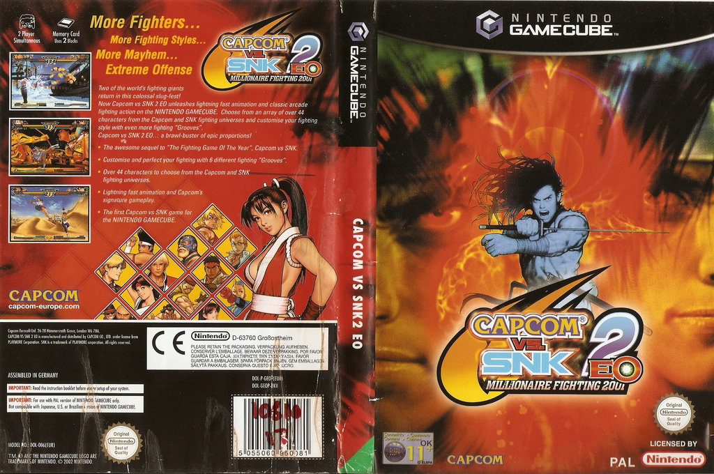 Capcom Vs. SNK2 EO: Millionaire Fighting 2001 Wii coverfullHQ (GEOP08)