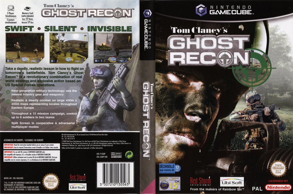 Tom Clancy's Ghost Recon Wii coverfullHQ (GGRP41)