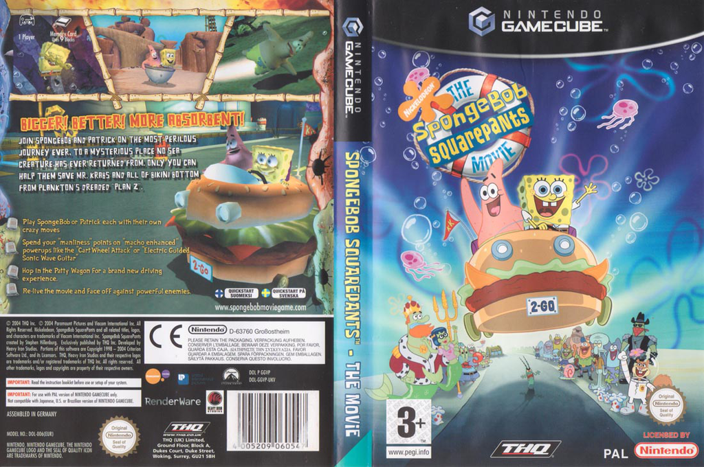 Spongebob Squarepants: The Movie Wii coverfullHQ (GGVP78)