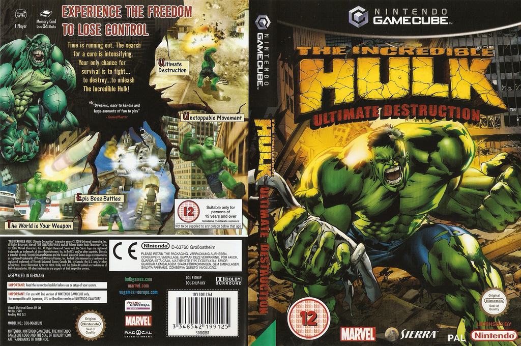 The Incredible Hulk Ultimate Destruction Wii coverfullHQ (GHUP7D)