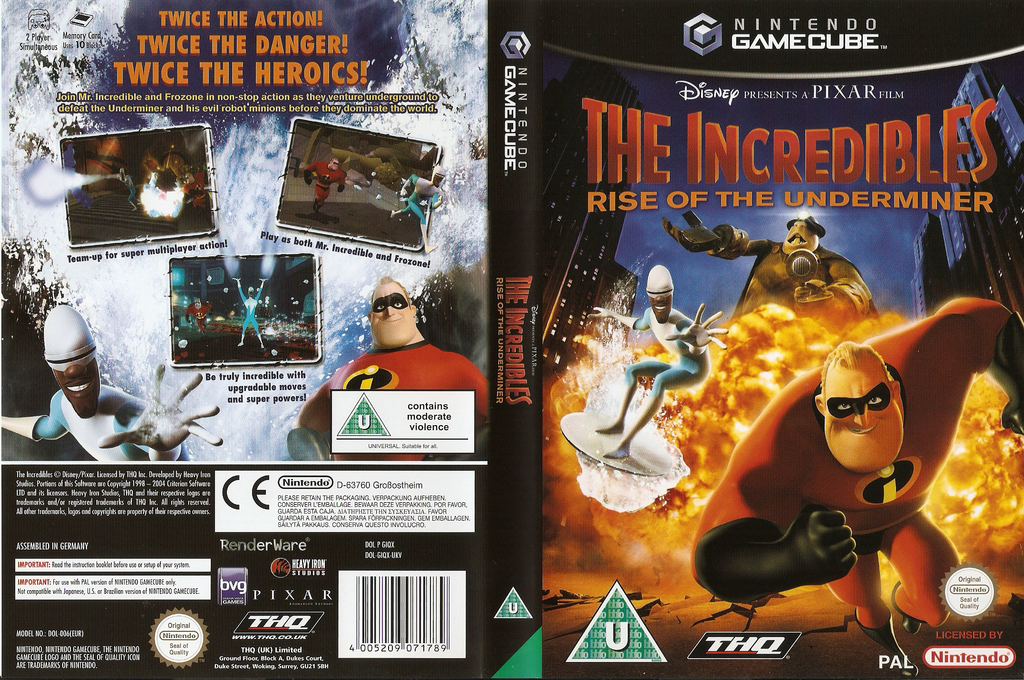 The Incredibles: Rise of the Underminer Wii coverfullHQ (GIQX78)