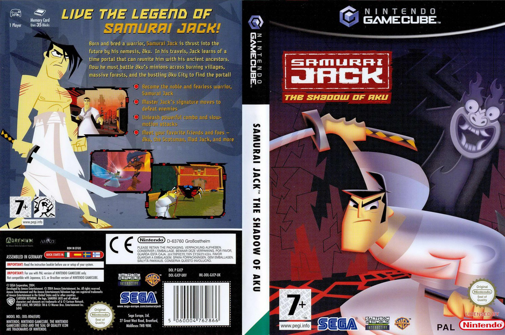 Samurai Jack: The Shadow of Aku Wii coverfullHQ (GJCP8P)