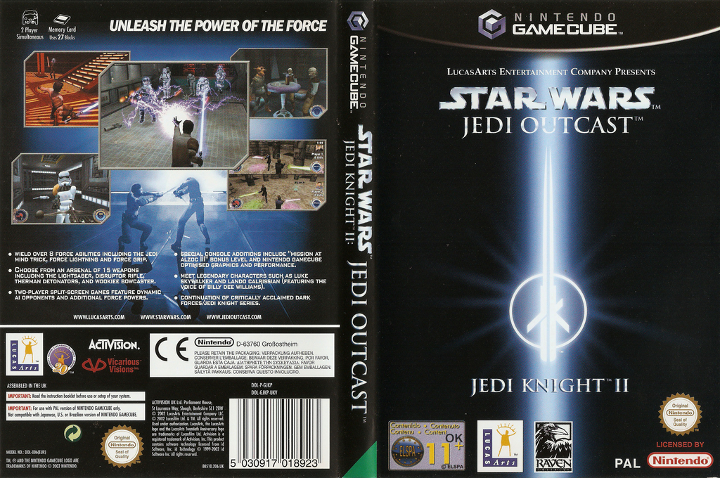 Star Wars Jedi Knight II: Jedi Outcast Wii coverfullHQ (GJKP52)