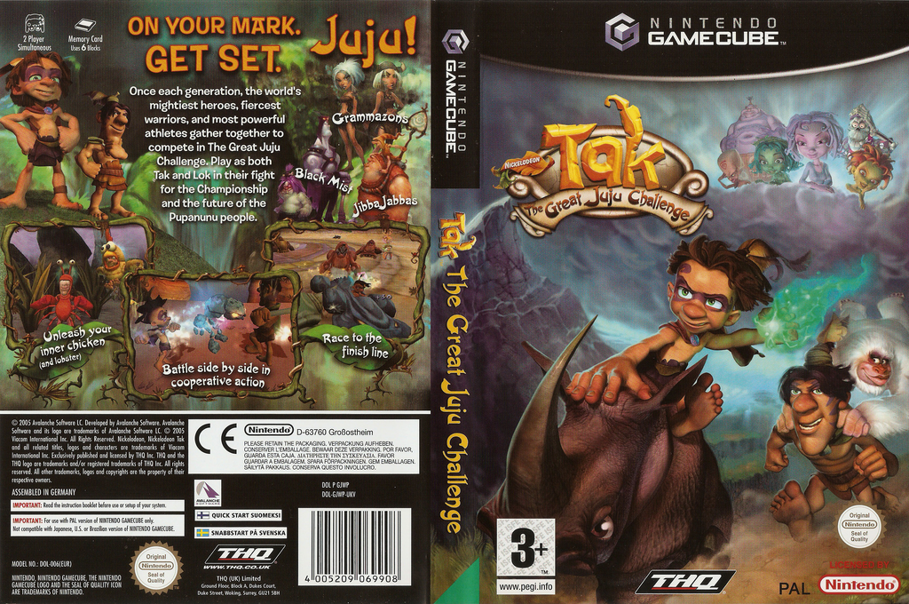 Tak: The Great JuJu Challenge Wii coverfullHQ (GJWP78)