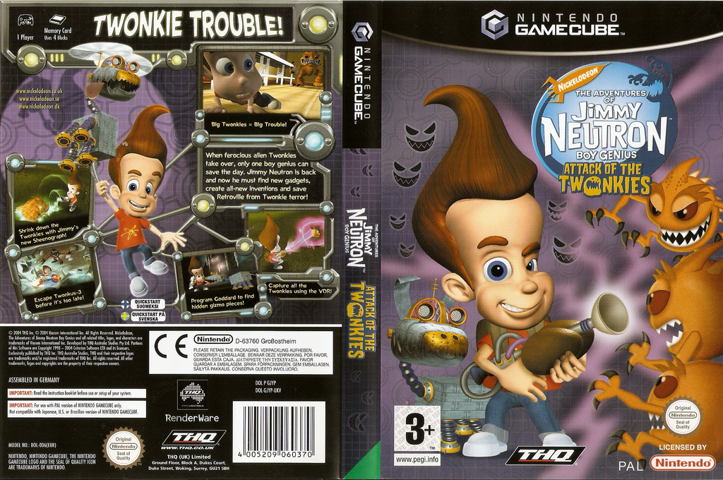 Jimmy Neutron Boy Genius: Attack of the Twonkies Wii coverfullHQ (GJYP78)