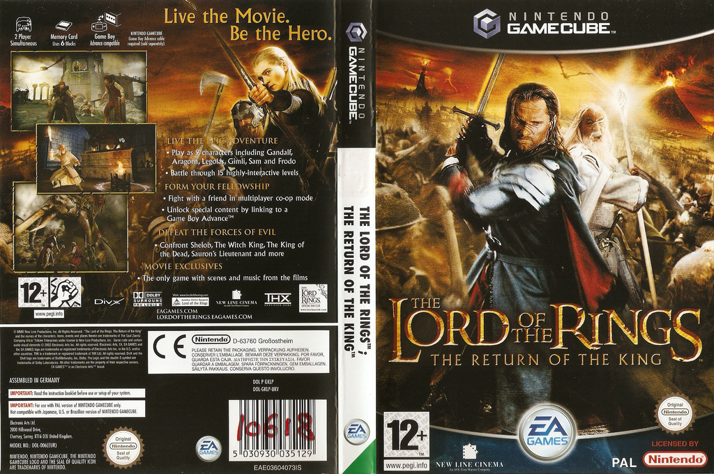 The Lord of the Rings: The Return of the King Wii coverfullHQ (GKLP69)