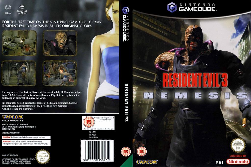Resident Evil 3: Nemesis Wii coverfullHQ (GLEP08)