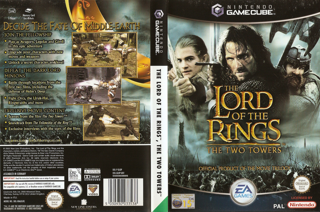 The Lord of the Rings: The Two Towers Wii coverfullHQ (GLOP69)