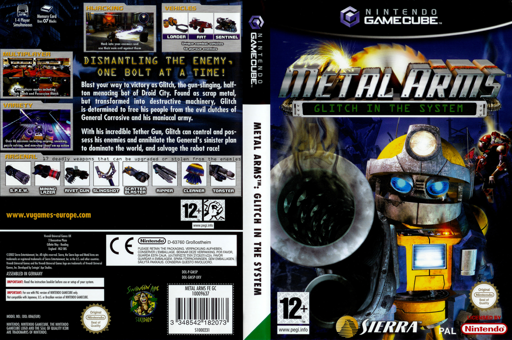 Metal Arms: Glitch in the System Wii coverfullHQ (GM5P7D)