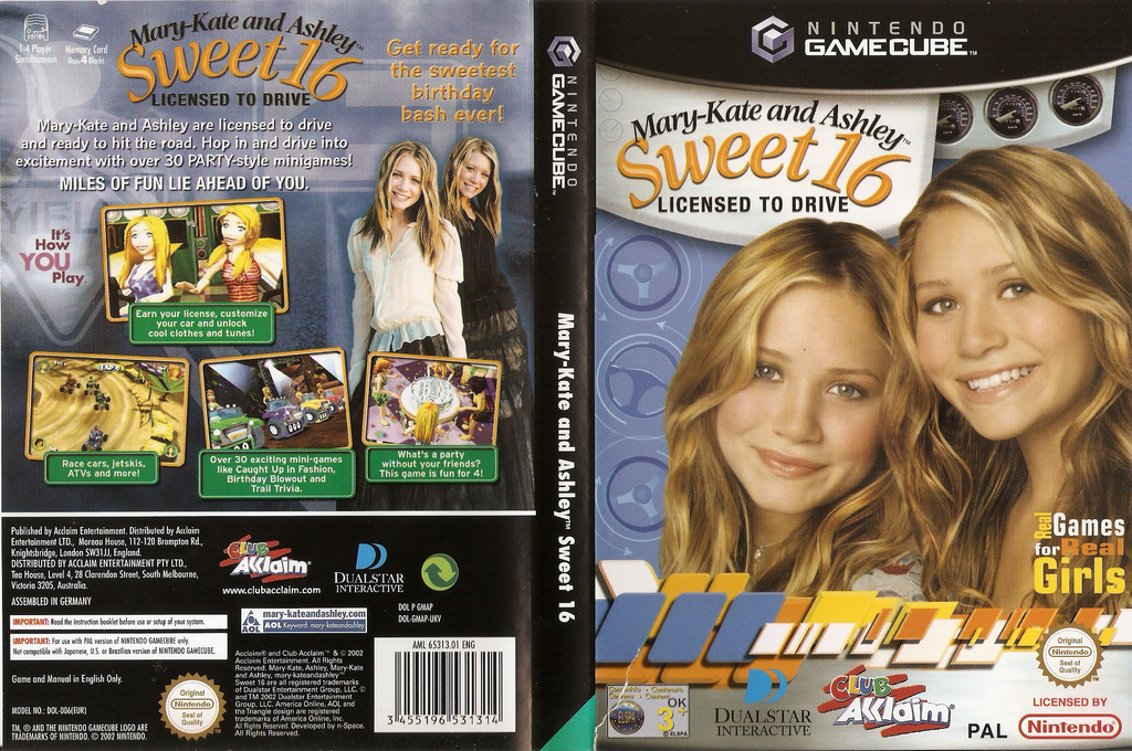 Mary-Kate and Ashley: Sweet 16 Licensed to Drive Wii coverfullHQ (GMAP51)