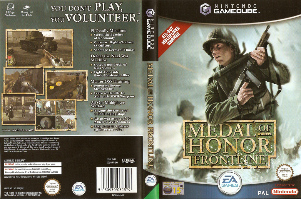 Medal of Honor: Frontline Wii coverfullHQ (GMFP69)