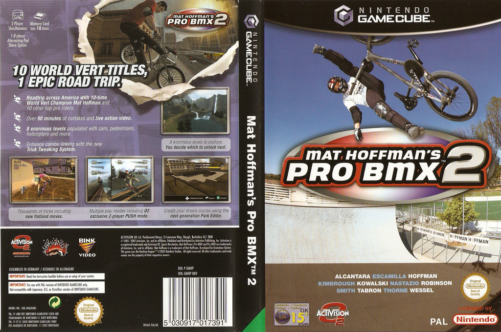 Mat Hoffman's Pro BMX 2 Array coverfullHQ (GMHP52)