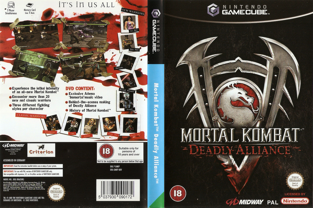 Mortal Kombat: Deadly Alliance Array coverfullHQ (GMKP5D)