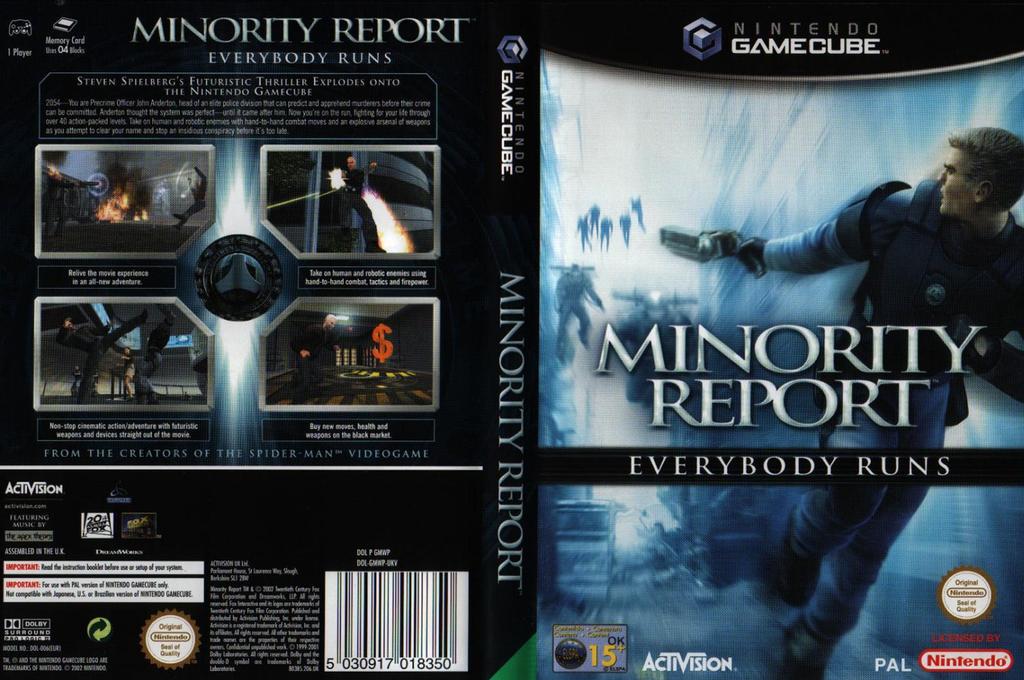 Minority Report: Everybody Runs Wii coverfullHQ (GMWP52)