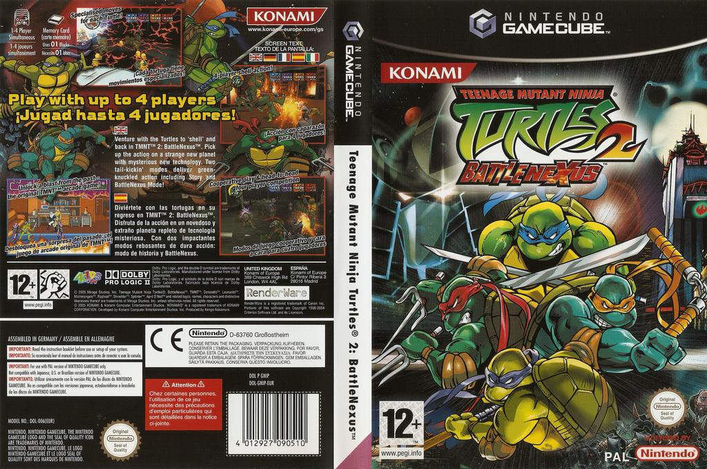 Teenage Mutant Ninja Turtles 2: Battle Nexus Wii coverfullHQ (GNIPA4)
